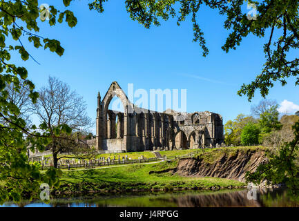 Bolton Priory, Bolton Abbey, Wharfedale, Yorkshire Dales National Park, North Yorkshire, England, UK - Stock Photo
