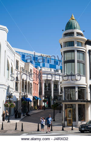 Two Rodeo, North Rodeo Drive, Beverly Hills, California, USA - Stock Photo