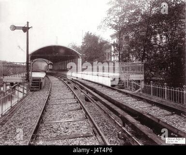 U Bahn Berlin Hochbahnhof Moeckernbruecke 1902 Innenansicht - Stock Photo