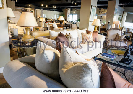 Miami Coral Gables Miami Florida Kreiss Furniture Store Retail Family  Business Showroom Sofa Upholstery Plush Beige