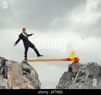 Instability and Fear of obstacles to overcome - Stock Photo