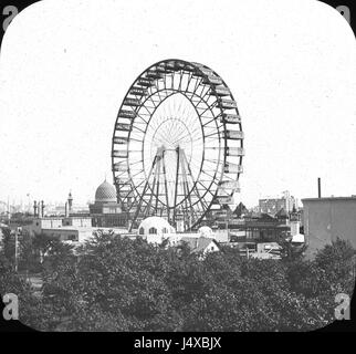 World's Columbian Exposition Ferris Wheel, Chicago, United States, 1893. - Stock Photo