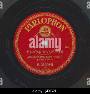 Vertinsky Parlophone B.23006 02 - Stock Photo