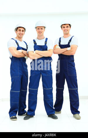 Group of professional industrial workers - Stock Photo