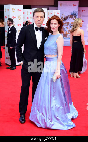 Andrew Buchanand Amy Nuttall arriving for the Virgin TV British Academy Television Awards 2017 held at Festival - Stock Photo