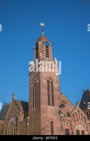 The Arminius church, Rotterdam, Netherlands, Europe. Built between 1895 and 1897. Monumental building, european - Stock Photo