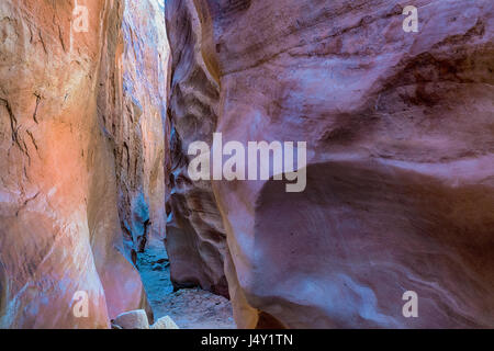 Abstract colors and shapes in Peekaboo Slot Canyon, Utah - Stock Photo