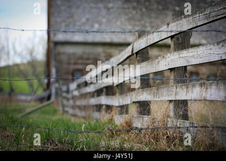 Old Barn on the Prairies - Stock Photo