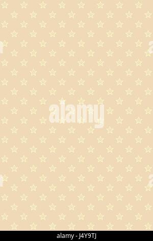 Beige modern seamless pattern with gold stars - Stock Photo