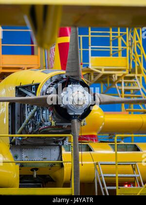 ZTC Velika Gorica aircraft overhaul overhauling refurbishment refurbishing maintenance facility - Stock Photo