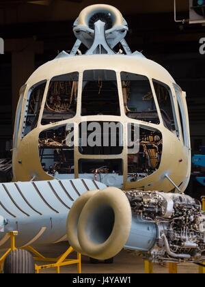 ZTC Velika Gorica helicopter overhaul overhauling refurbishment refurbishing maintenance facility - Stock Photo