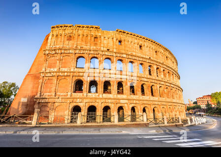 Rome, Italy. Colosseum in Roma, Italia. Symbol of the ancient city. Amphitheatre in sunrise light. - Stock Photo