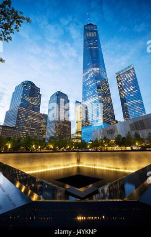 9/11 Memorial, The National September 11 Memorial & Museum, New York - Stock Photo