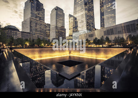 9/11 Memorial, The National September 11 Memorial & Museum - Stock Photo