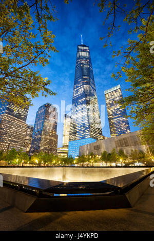 9/11 Memorial, The National September 11 Memorial & Museum, New York - Stock Photo