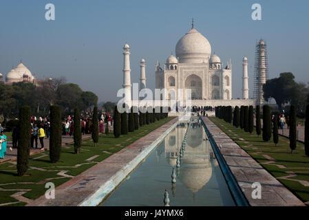 View of the Taj Mahal in Agra, India - Stock Photo