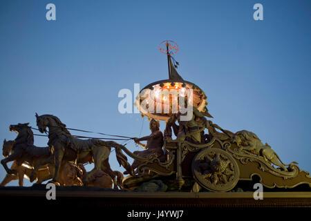 Statue of agni rath chariot, rishikesh, uttarakhand, india, asia - Stock Photo