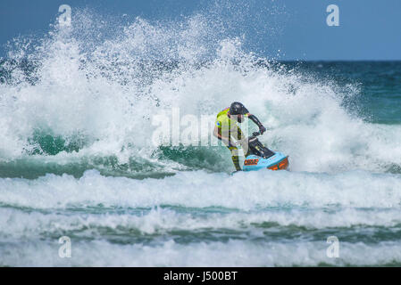 A jetski rider at the IFWA Championships Jetski Jet ski Spectacular action  IFWA Championships Battle of the pilots - Stock Photo