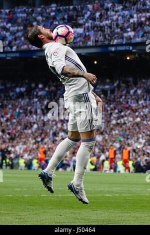 Madrid, Spain. 14th May, 2017. Sergio Ramos Garcia (4) Real Madrid's player. La Liga between Real Madrid vs Sevilla - Stock Photo