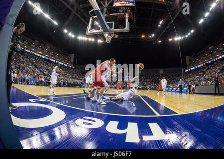 London, UK. 14th May, 2017. BBL Basketball Play-off Final, Leicester Riders vs Newcastle Eagles at The O2 Arena, - Stock Photo