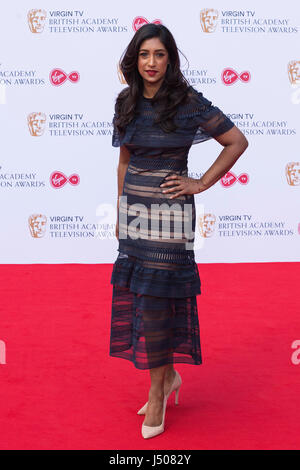 Lonodn, UK. 14 May 2017. Tina Daheley arrives for the Virgin TV British Academy Television Awards (BAFTAs) at the - Stock Photo