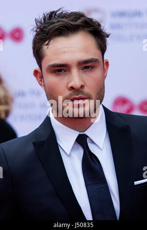 Lonodn, UK. 14 May 2017. Ed Westwick arrives for the Virgin TV British Academy Television Awards (BAFTAs) at the - Stock Photo