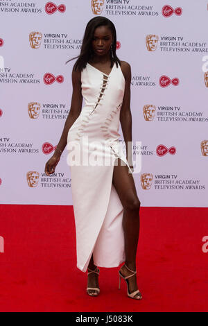 Lonodn, UK. 14 May 2017. Leomie Anderson arrives for the Virgin TV British Academy Television Awards (BAFTAs) at - Stock Photo