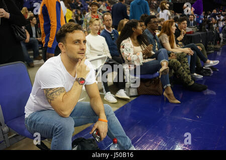 London, England, UK. 14th May, 2017. Celebrities attend the BBL Play-Off Finals and also fundraising for Hoops Aid - Stock Photo