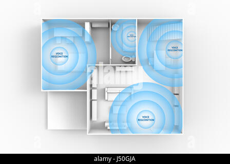 Home advisor , voice recognition , artificial intelligence device , Smart home and internet of things concept. 3D - Stock Photo