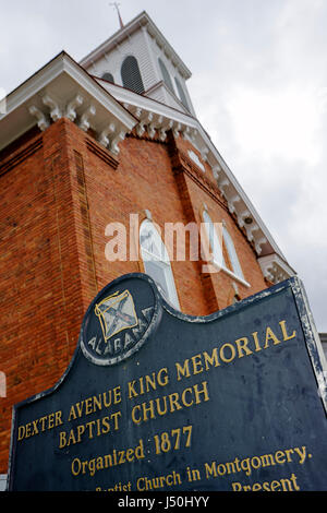 Alabama, AL, South, Montgomery County, Montgomery, Dexter Avenue King Memorial Baptist Church, Martin Luther King, - Stock Photo