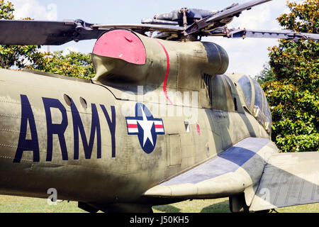 Alabama, AL, South, Dale County, Ft. Fort Rucker, United States Army Aviation Museum, aircraft, military helicopters, - Stock Photo