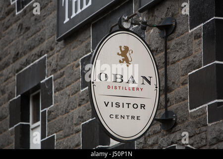 Oban Whisky Distillery, in Oban, Scotland, on 12  May  2017. - Stock Photo