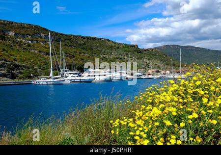 bosa marina, sardinia, italy - Stock Photo