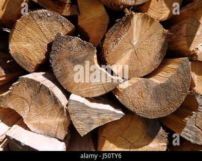 Fuel wood - natural background, firewood - natural texture - Stock Photo