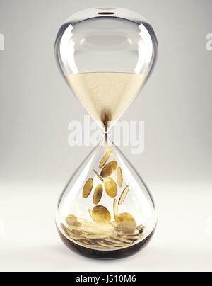 Time is money concept 3D Rendering - Stock Photo