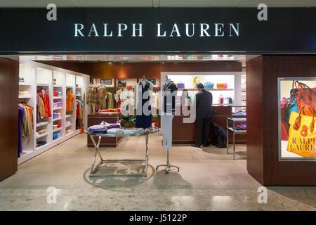 Ralph Lauren store, Geneva International Airport, Switzerland - Stock Photo