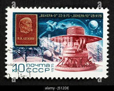 Soviet postage stamp - Stock Photo