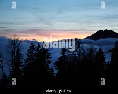 sport sports mountains hike go hiking ramble outdoor mountain scenery - Stock Photo