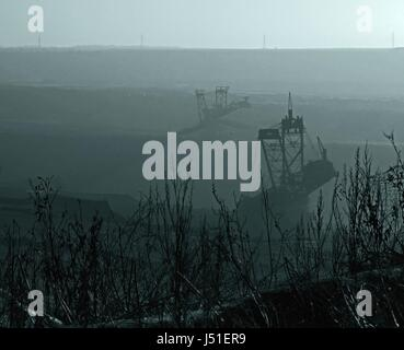 engineering,bw,dredger,construction site,rheinbraun,garzweiler,schwarzwei - Stock Photo