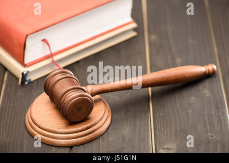 law concept. different objects of lawyer - Stock Photo