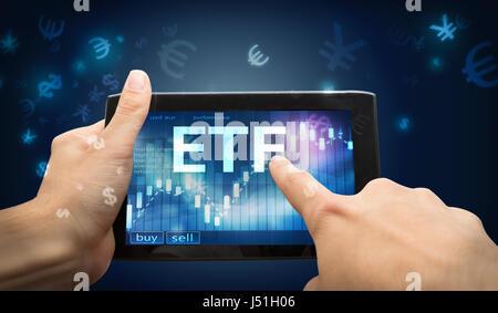 etf investment - Stock Photo