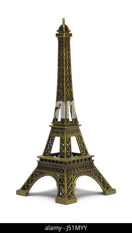 Scale Eiffel Tower Isolated on White Background. - Stock Photo