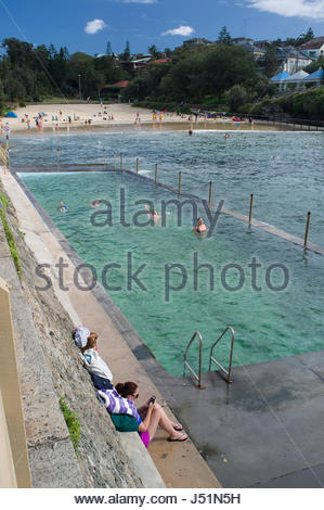 Clovelly bay sydney new south wales australia stock - Can babies swim in saltwater pools ...