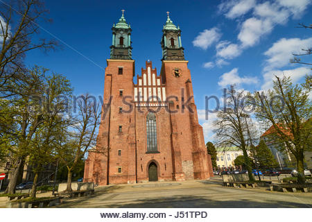 Cathedral and St. Mary s Church on Ostrow Tumski Island in Poznan (Poland). In the basement of this cathedral there - Stock Photo