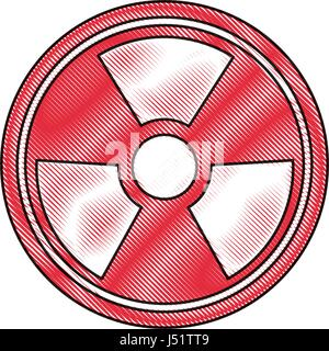 radiation caution hazard nuclear symbol - Stock Photo