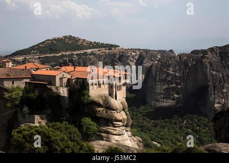 The Monastery of Varlaam, Meteora, Kalabaka, Greece on July 15, 2016. - Stock Photo