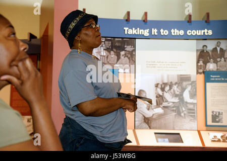 Little Rock Arkansas Central High School National historic Site 1957 desegregation crisis Black History African - Stock Photo