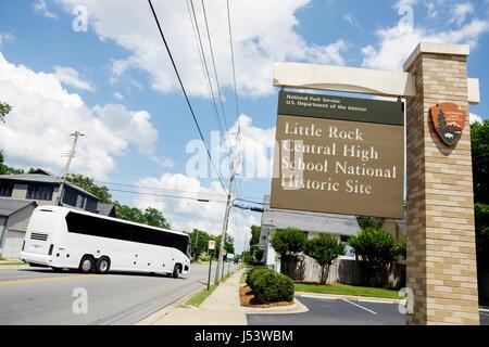 Little Rock Arkansas Central High School National Historic Site 1957 desegregation crisis Black History African - Stock Photo