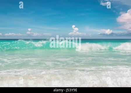 Stunning blue ocean at Miami beach. South beach Miami Florida. - Stock Photo