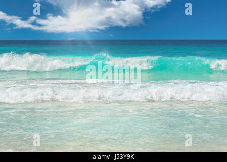 waves on a tropical beach. - Stock Photo